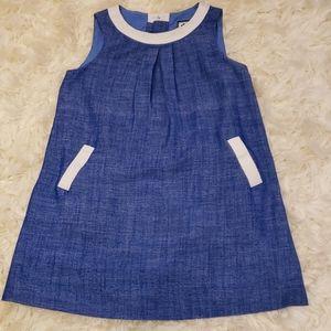 Denim style shift dress